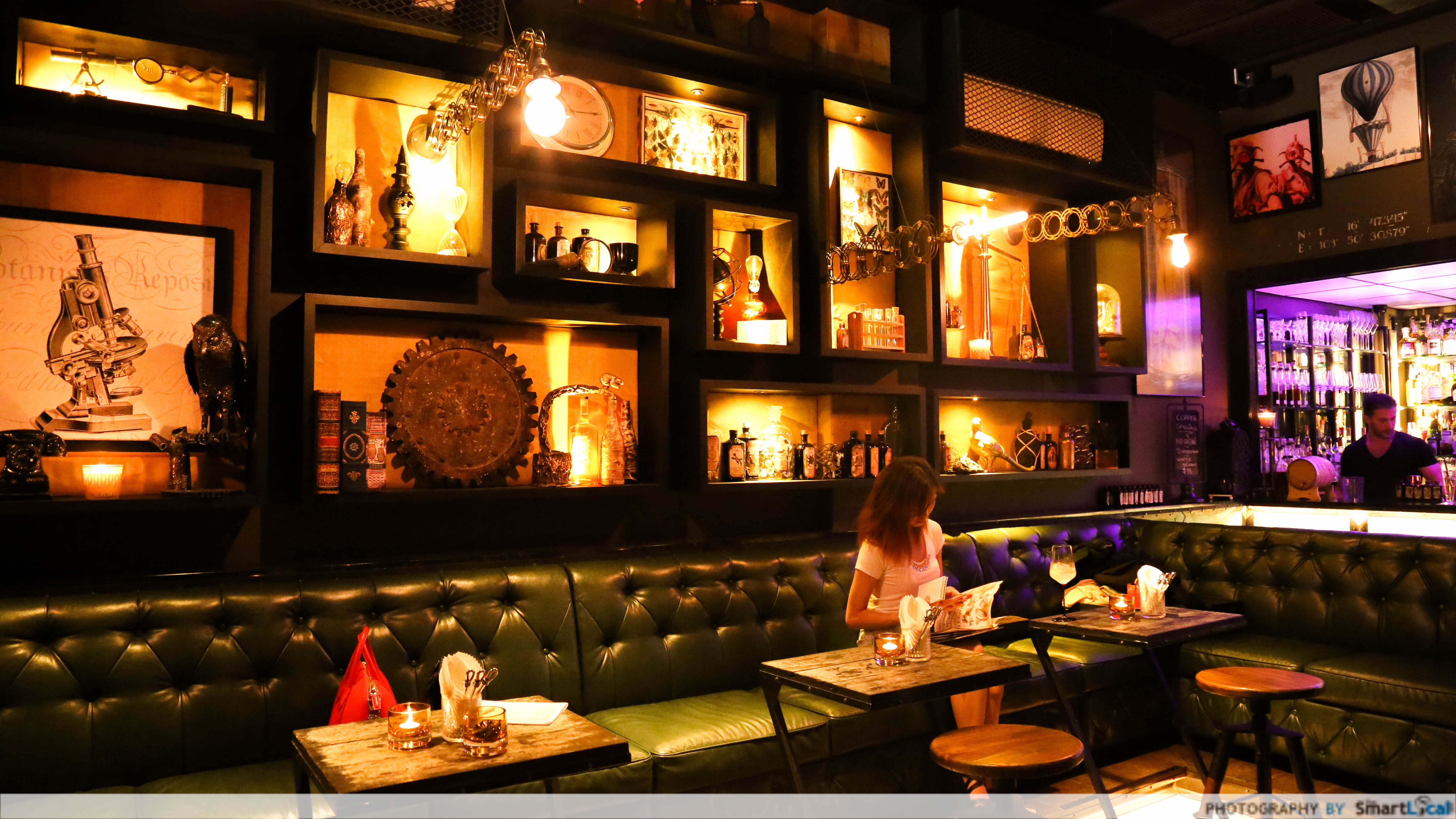 Copper review steampunk gin bar with great food for Food bar near me