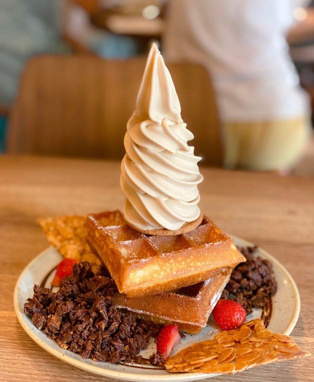 Sunday Folks Waffles Ice Cream