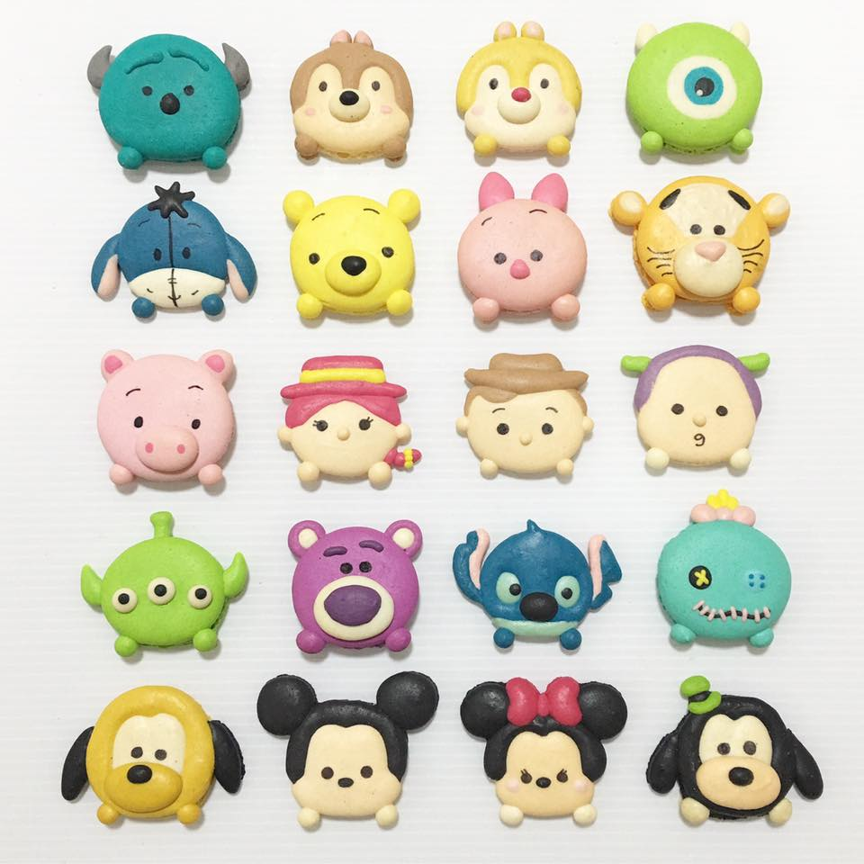 cartoon customisable macarons 2