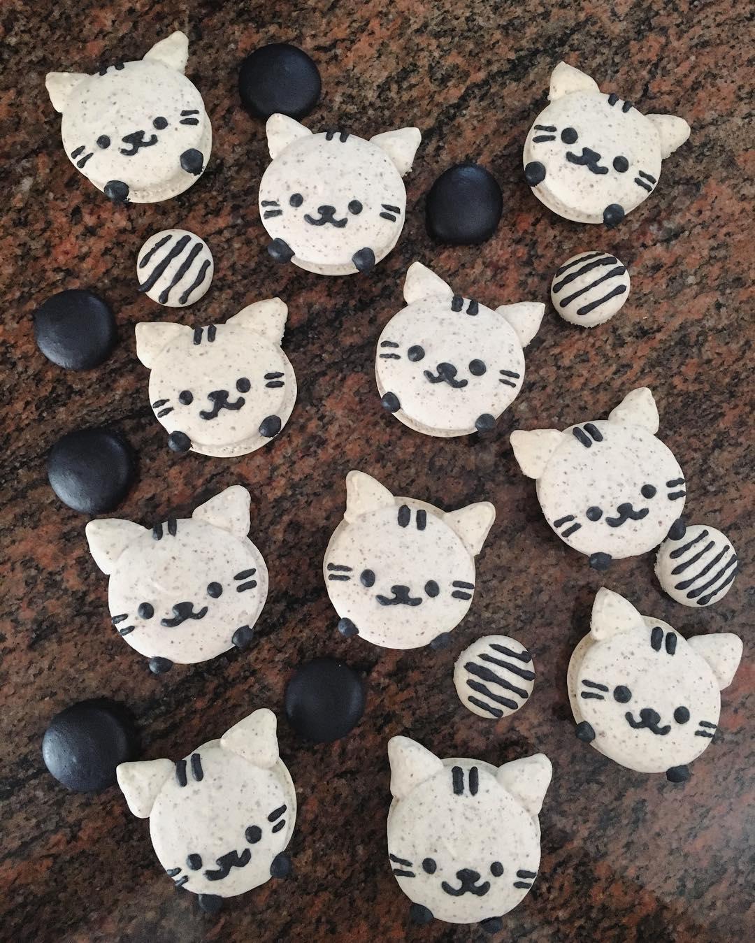 cartoon customisable macarons