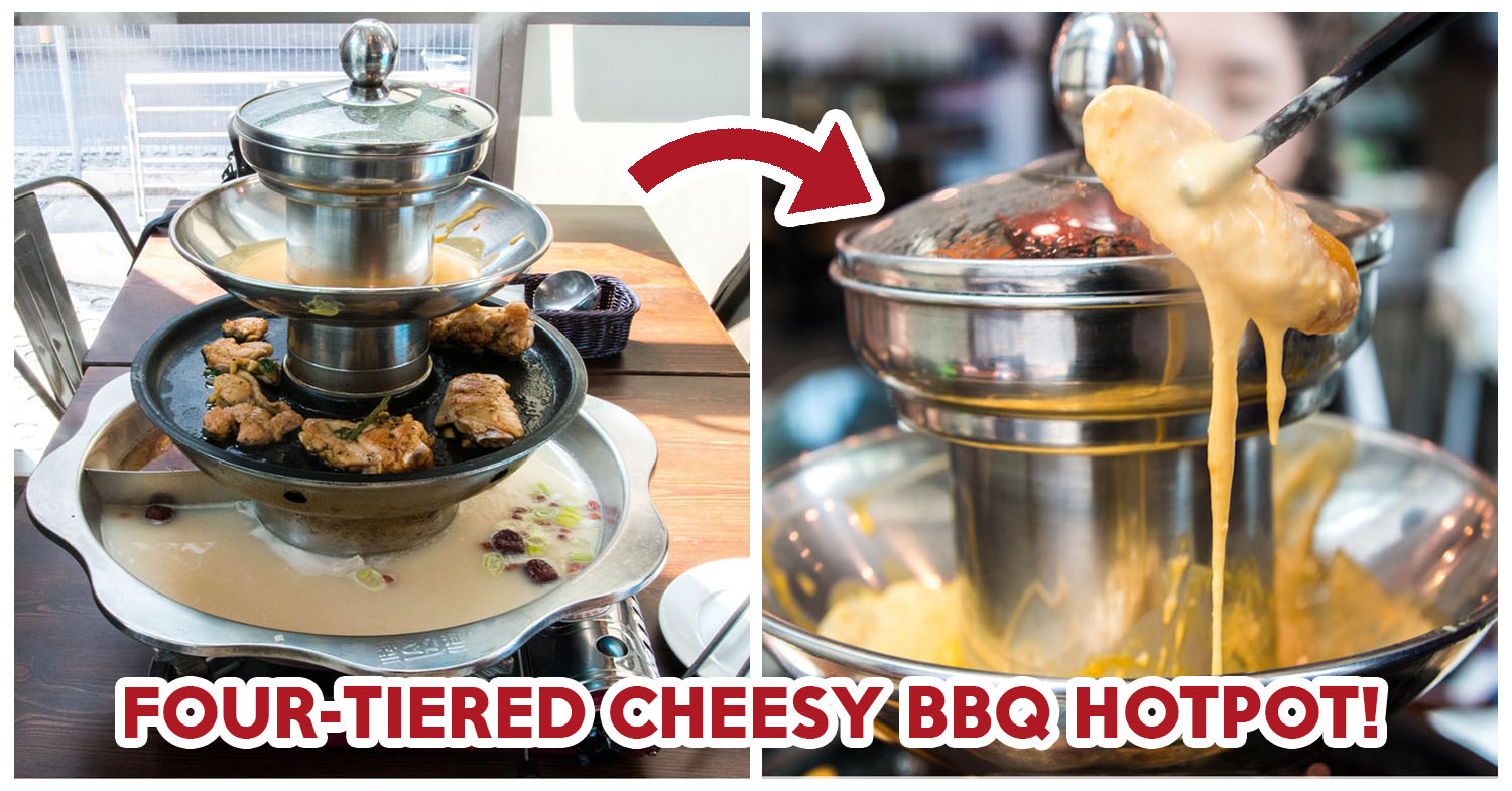 flame cafe review four tiered cheesy bbq hot pot at a cafe at tai seng. Black Bedroom Furniture Sets. Home Design Ideas