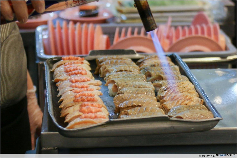 Sushi Express Funan - Torching Action