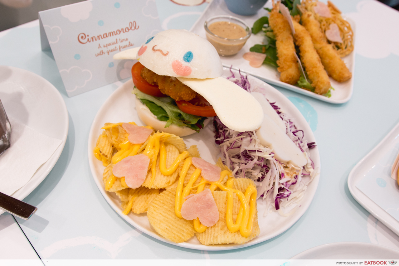 cinnamoroll cafe - mantou burger
