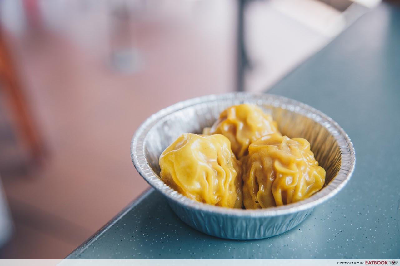 ye zhi mei - salted egg siew mai