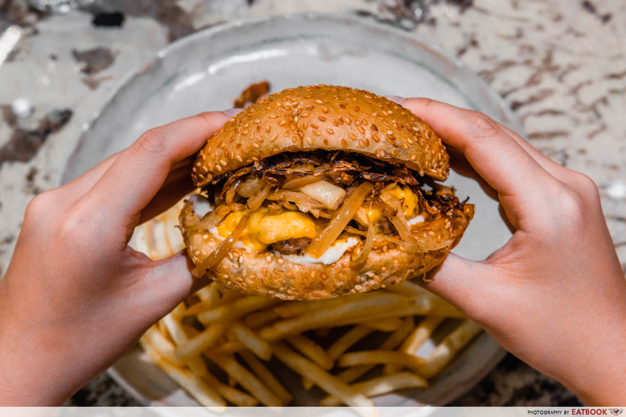 tiong bahru bakery - french onion burger 1