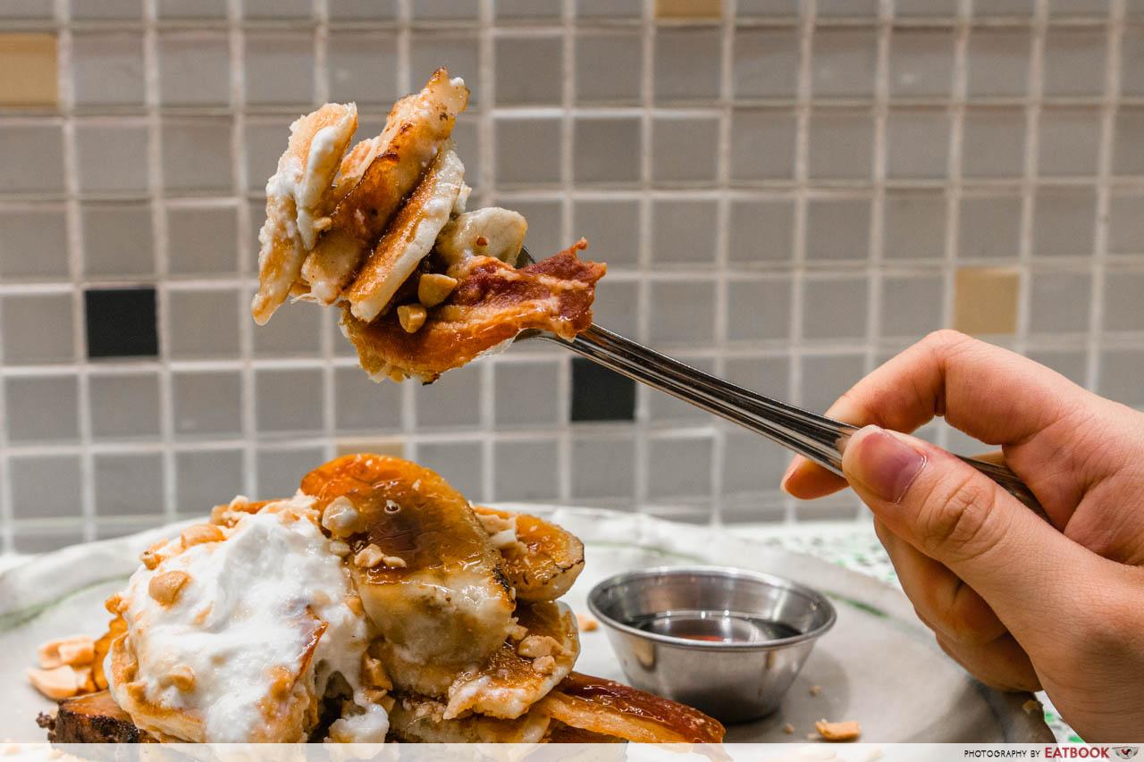 tiong bahru bakery - pork belly bacon pancake burger