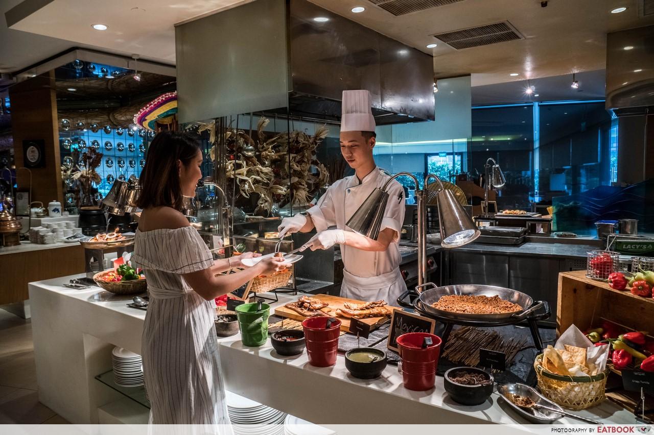 hotel buffets - aquamarine