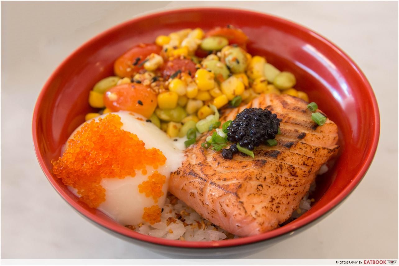 Boru Boru - salmon bowl