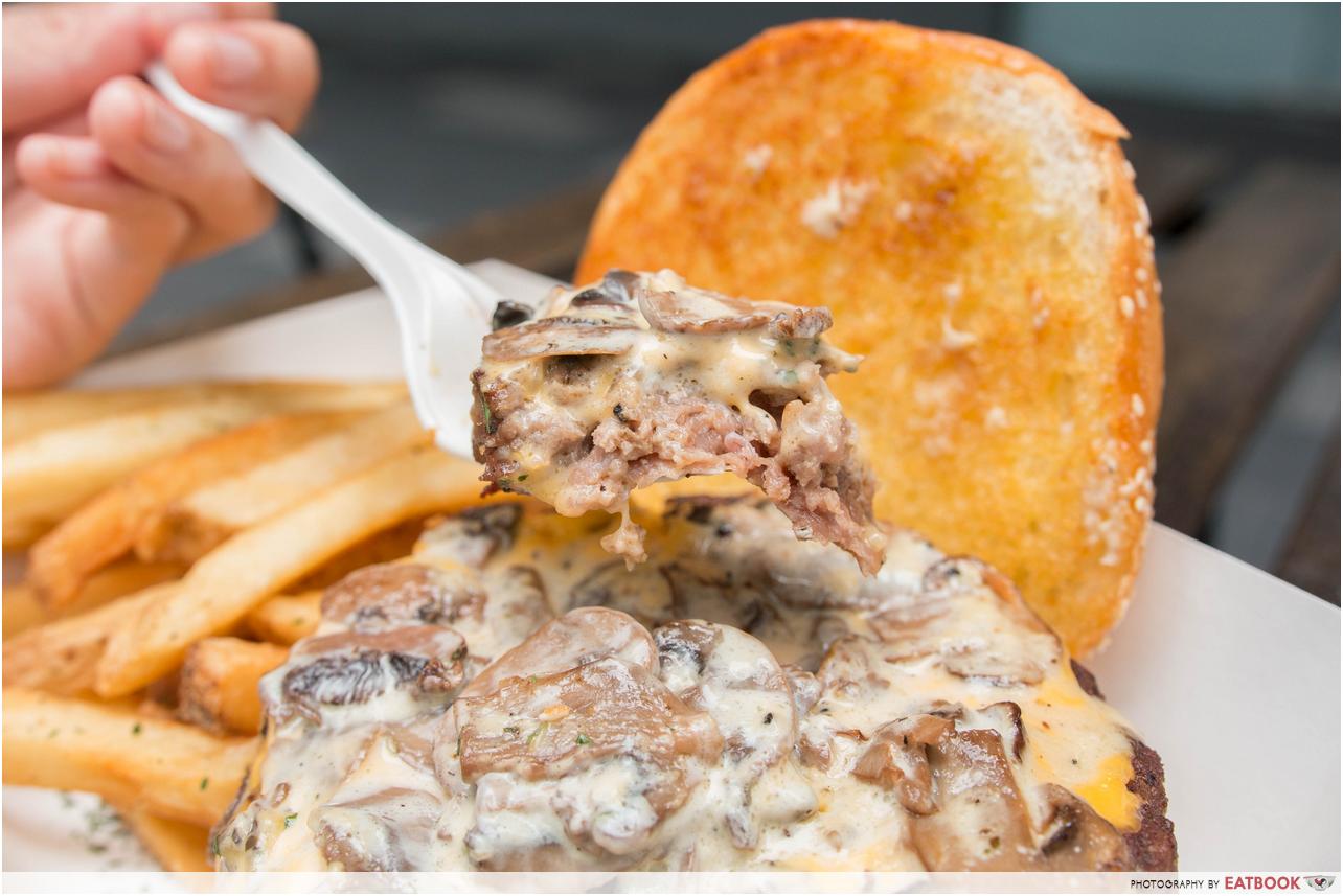 burger buddies - mushroom beef