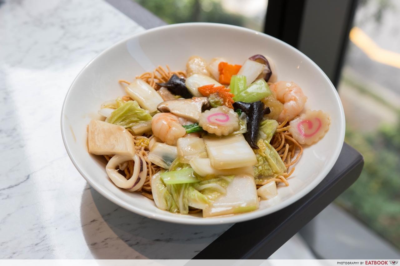 chen's mapo tofu - crispy noodles