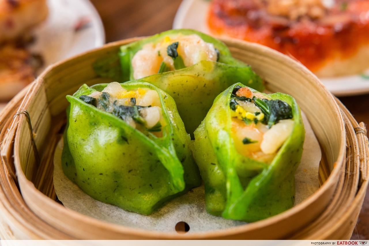 mongkok dim sum - spinach dumplings whole