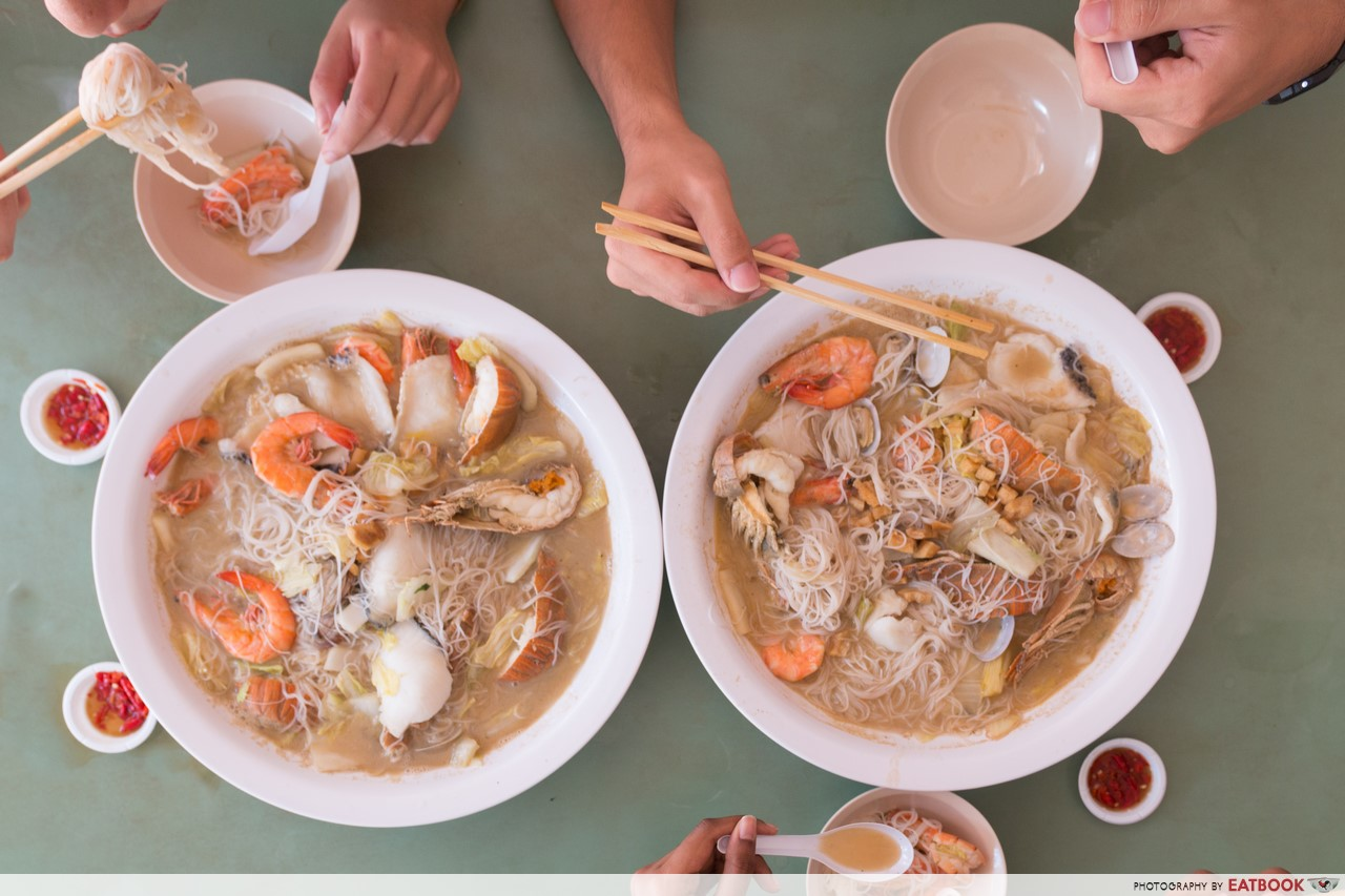 Atas Hawker Dishes - woon woon