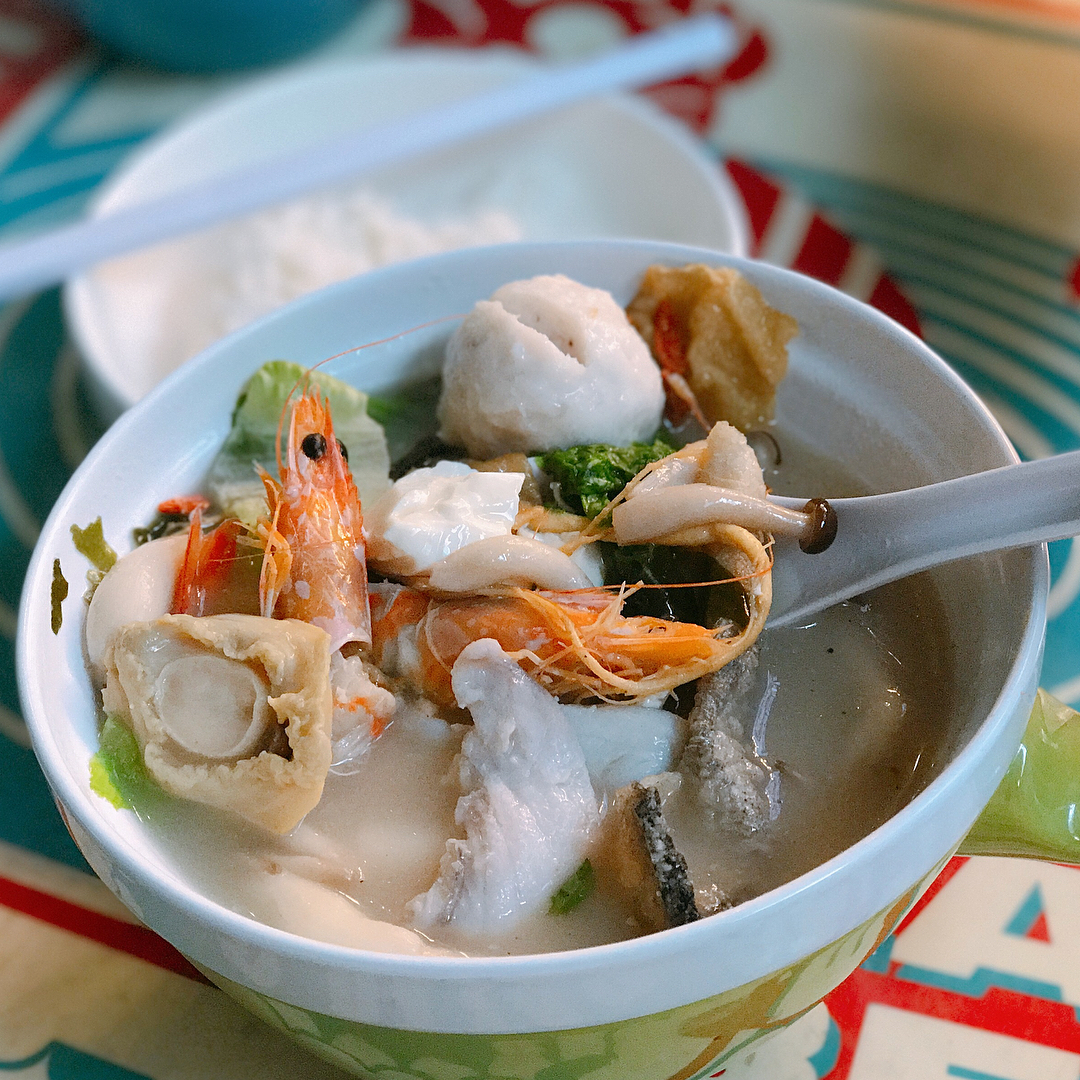 Atas Hawker Dishes - fish soup
