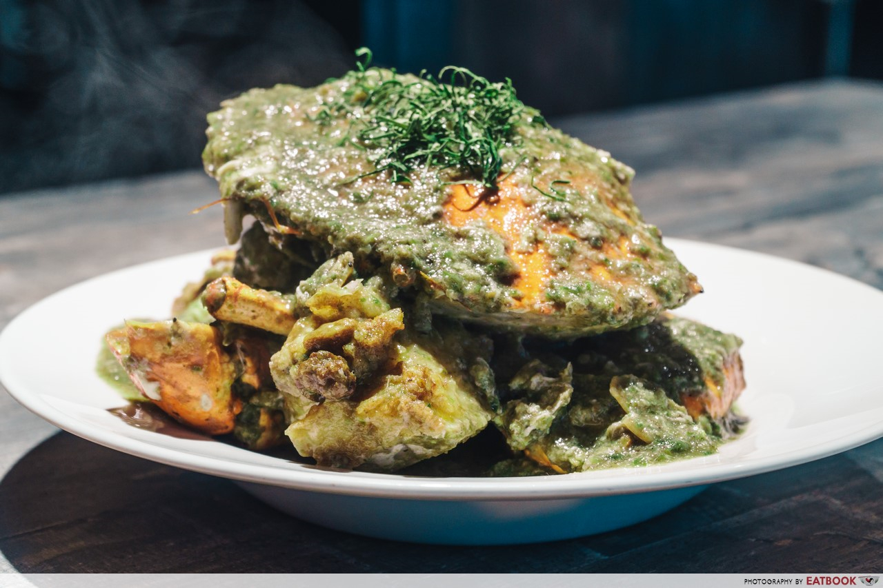holycrab - green chilli crab