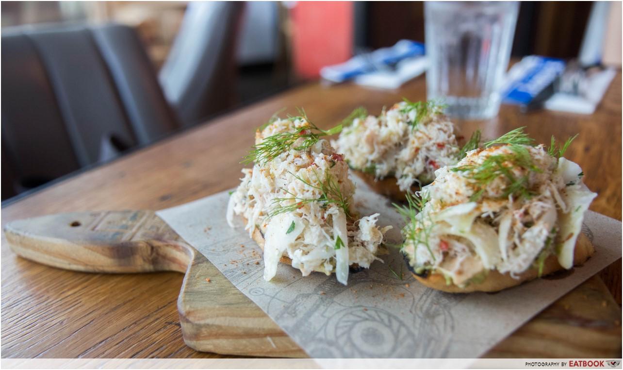 Jamie's Italian - crab crostini