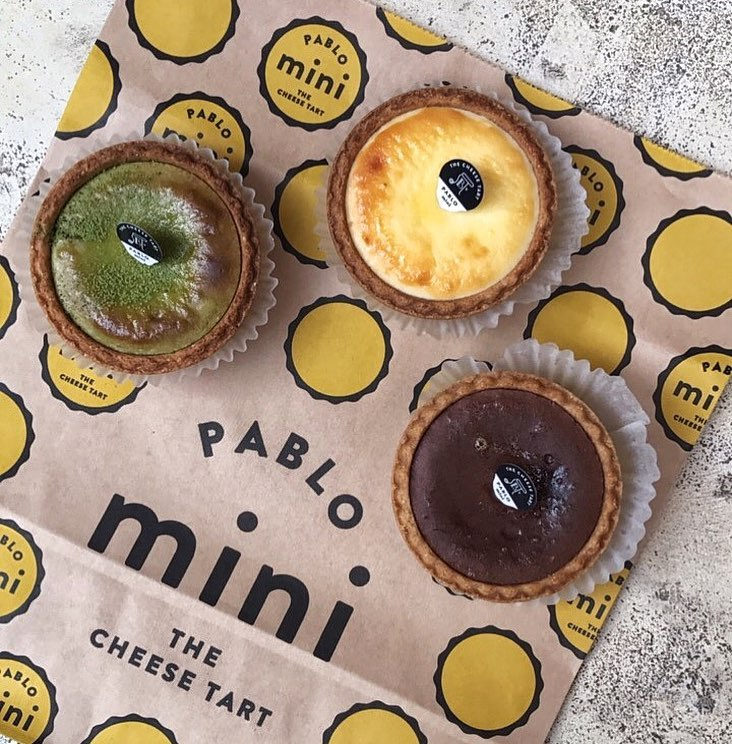 pablo cheese tart - mini tarts