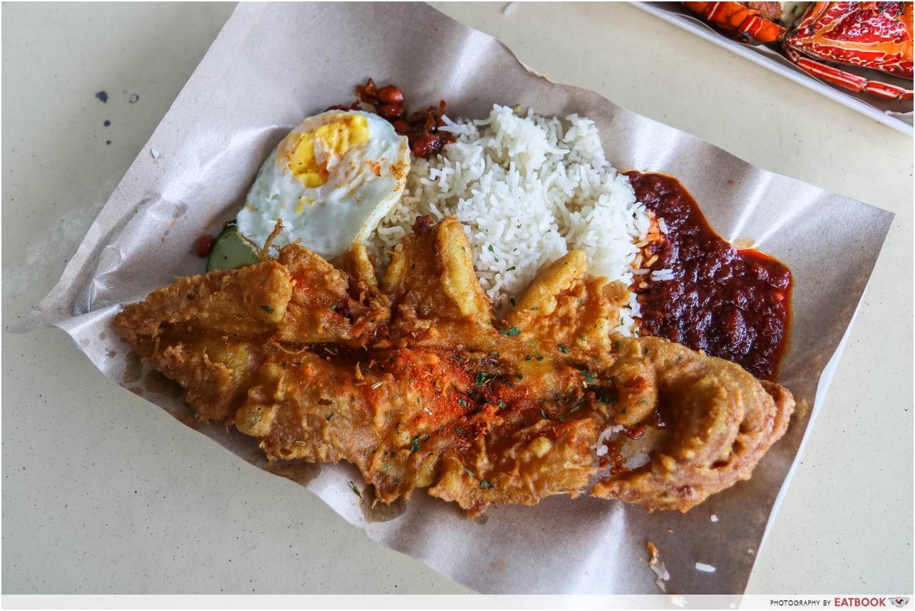 Lawa Bintang - squid nasi lemak