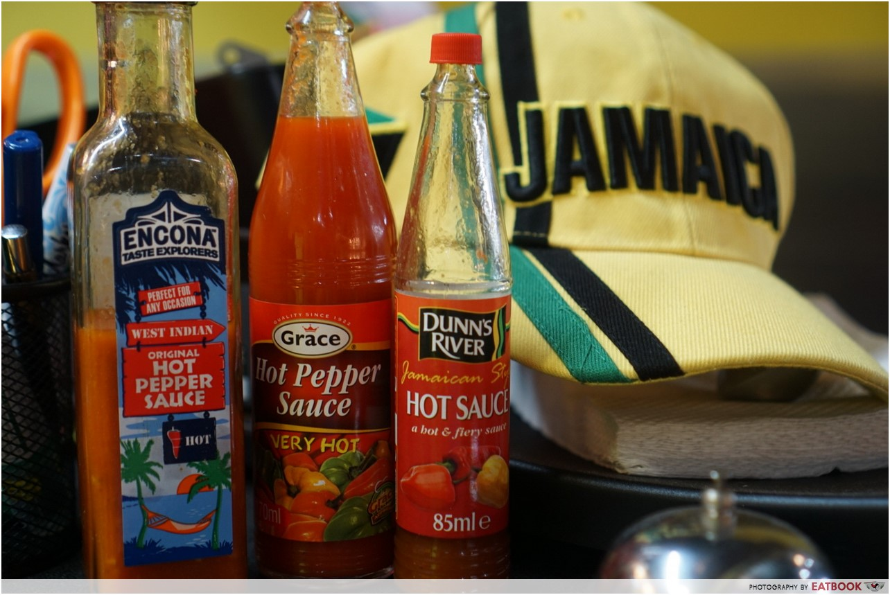 Mike's Caribbean Food - sauces