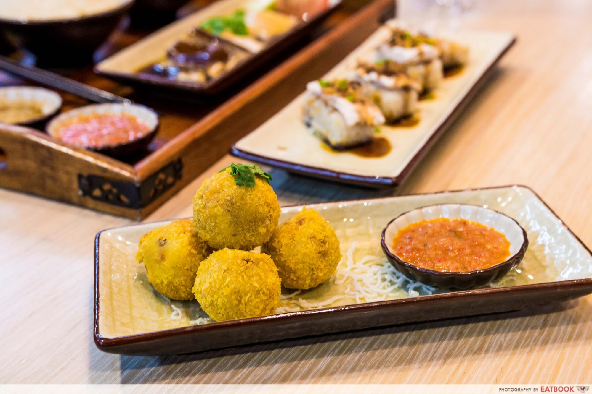 Roost - crispy chicken rice balls