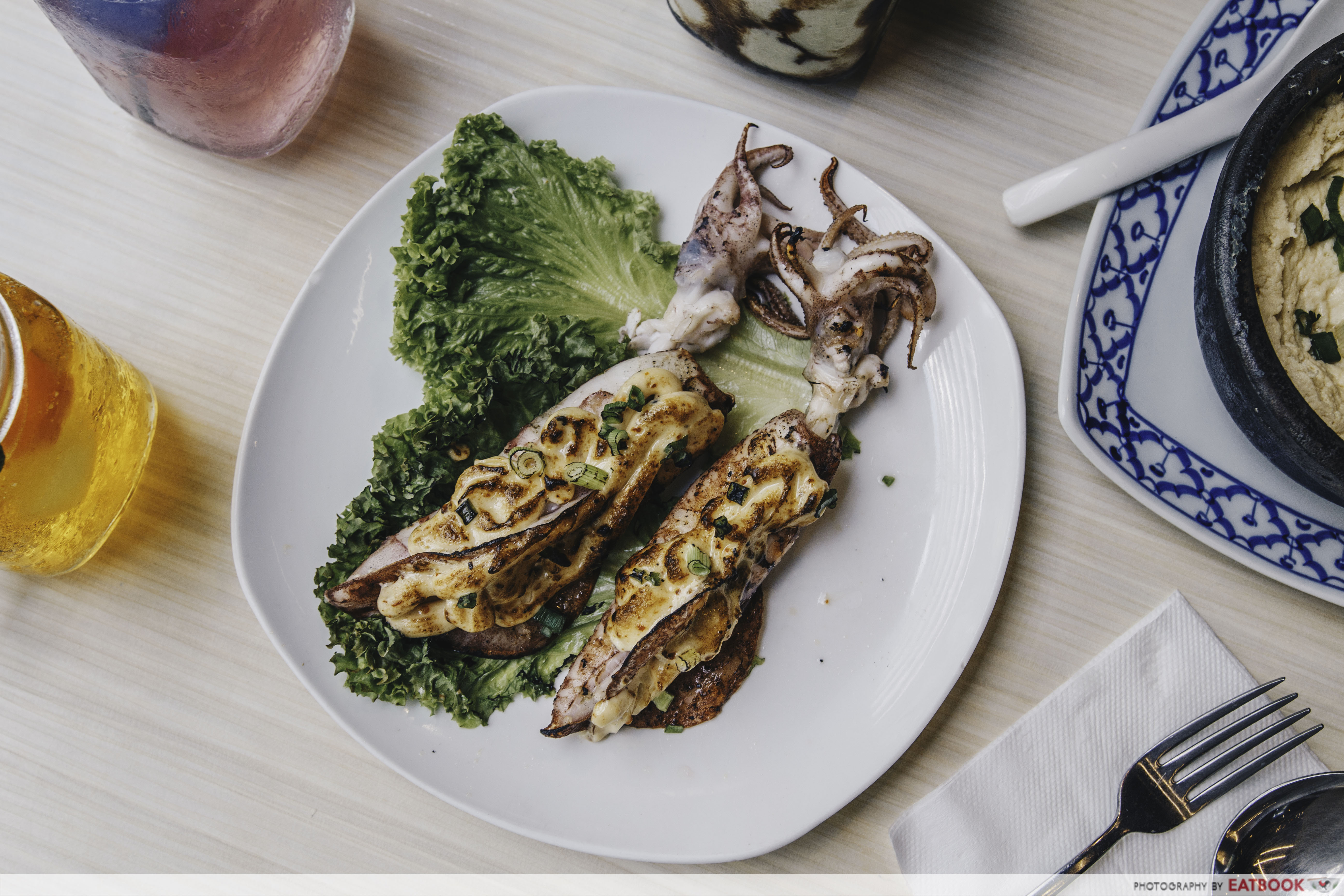 Som Tam - Thai Style Grilled Squid with Mentaiko