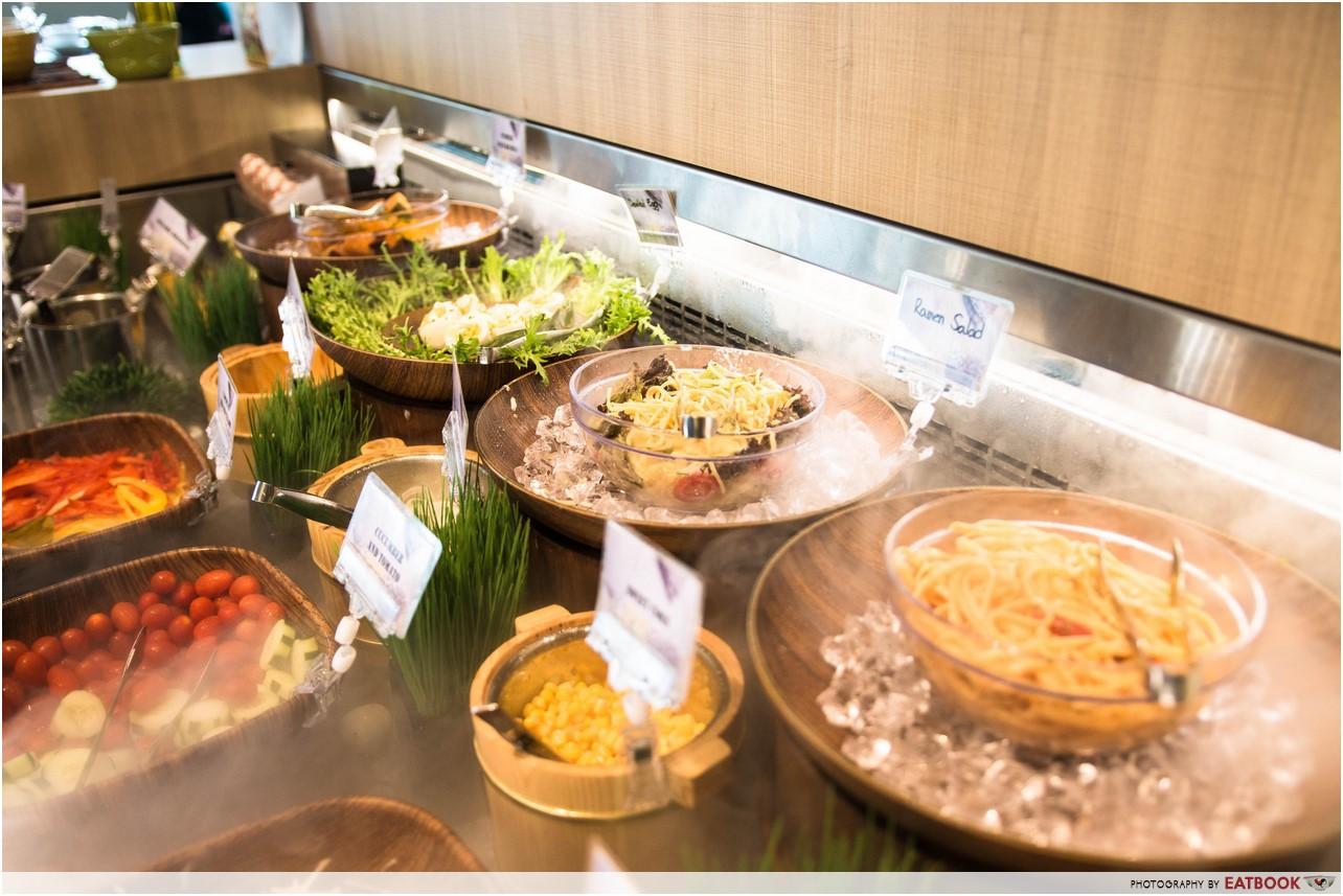 ramen champion - salad bar