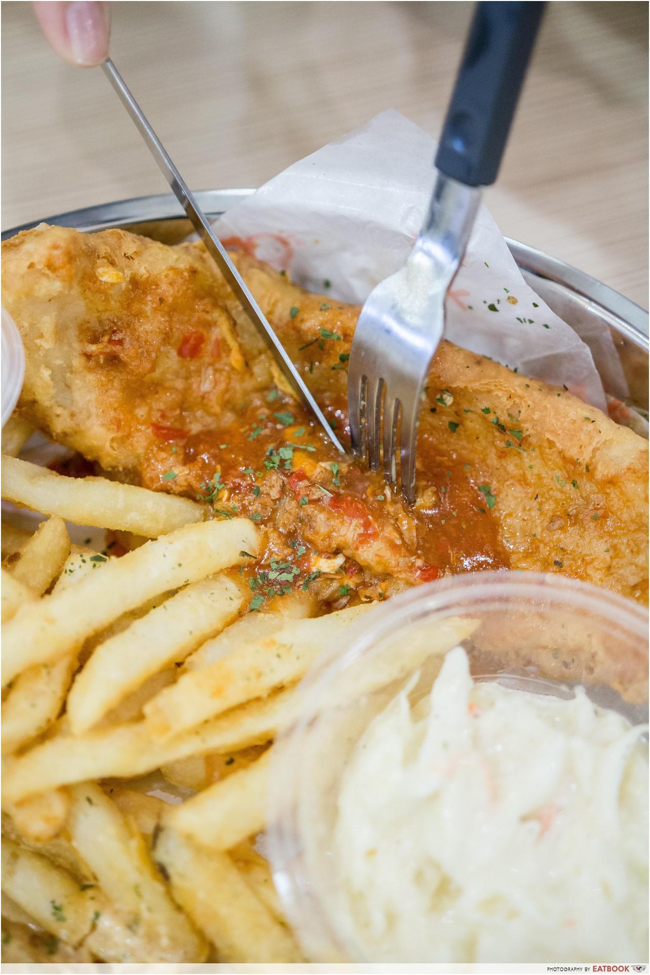 cheap halal food - Fish and Chicks chilli crab sauce