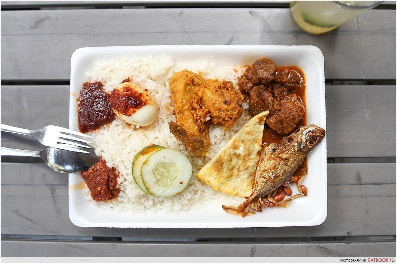 cheap halal food - Nasi Lemak Kukus