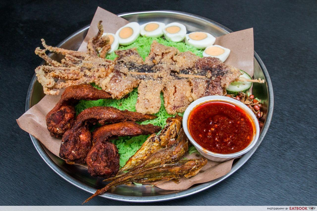 Halal food places - Route 12 nasi lemak sotong deluxe