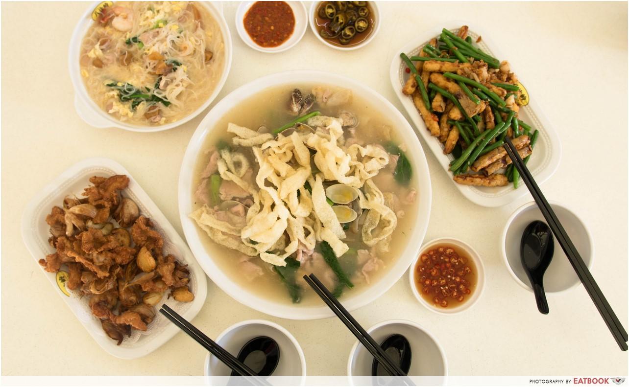 Jin Hock Seafood - flatlay