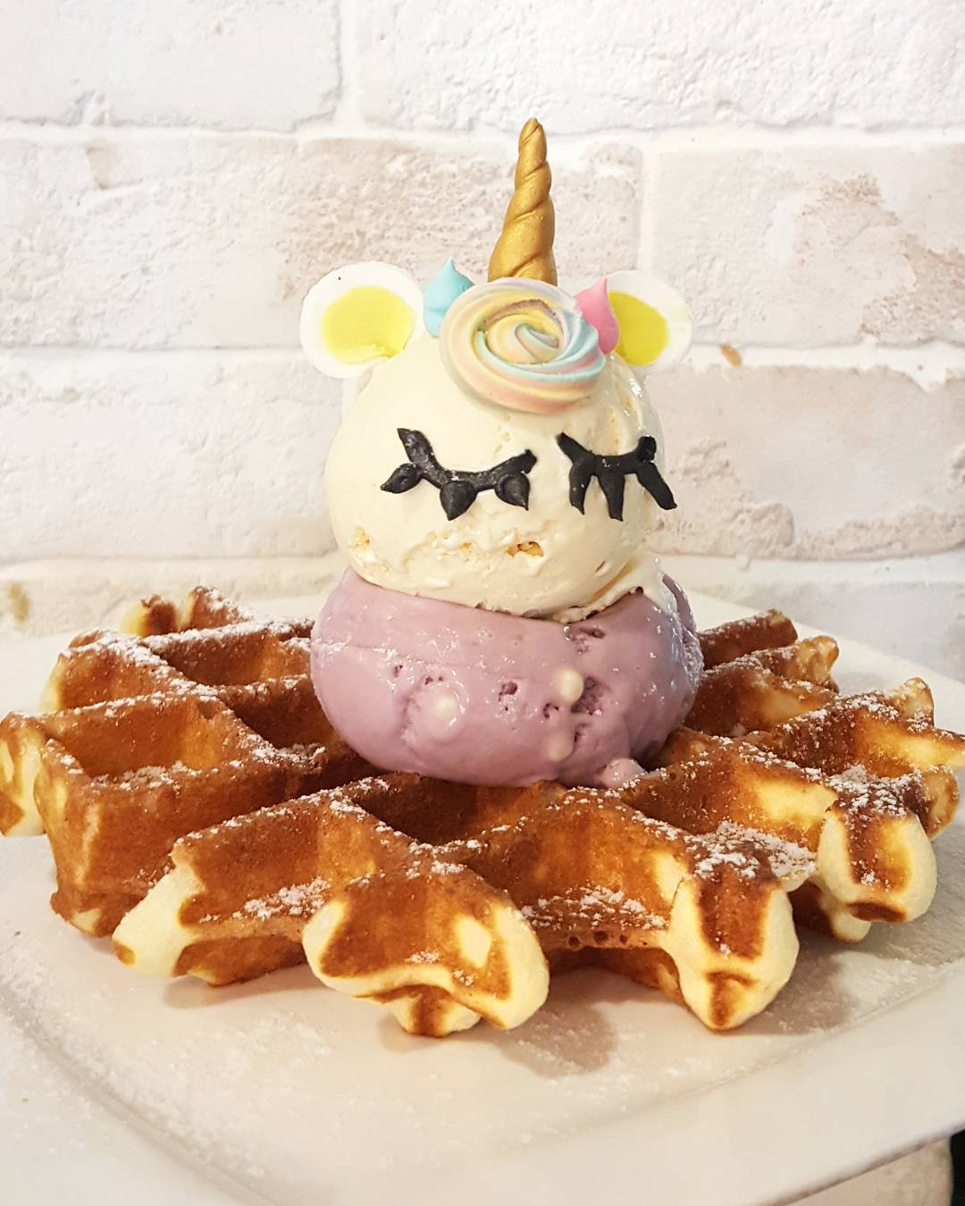 Unicorn waffles - hatter street