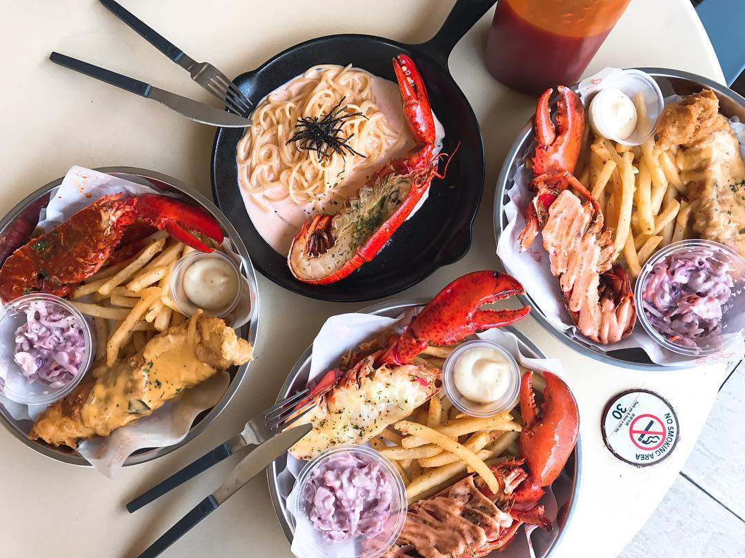 unique lobster dishes - fish and chicks