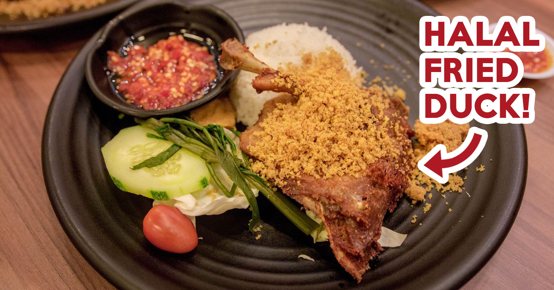 Bebek Goreng Pak Ndut Review: Halal-Certified Crispy Duck Rice At
