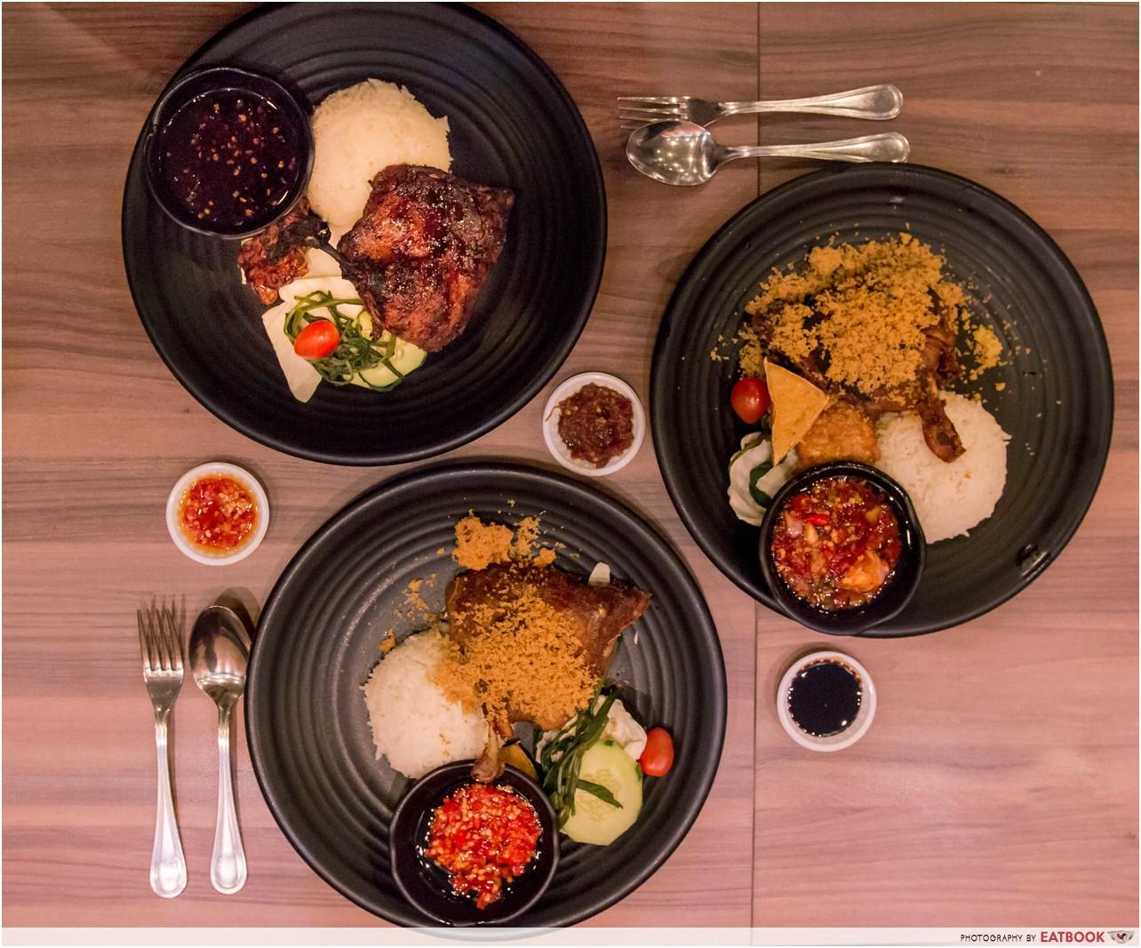 Bebek Goreng Pak Ndut - Food flatlay