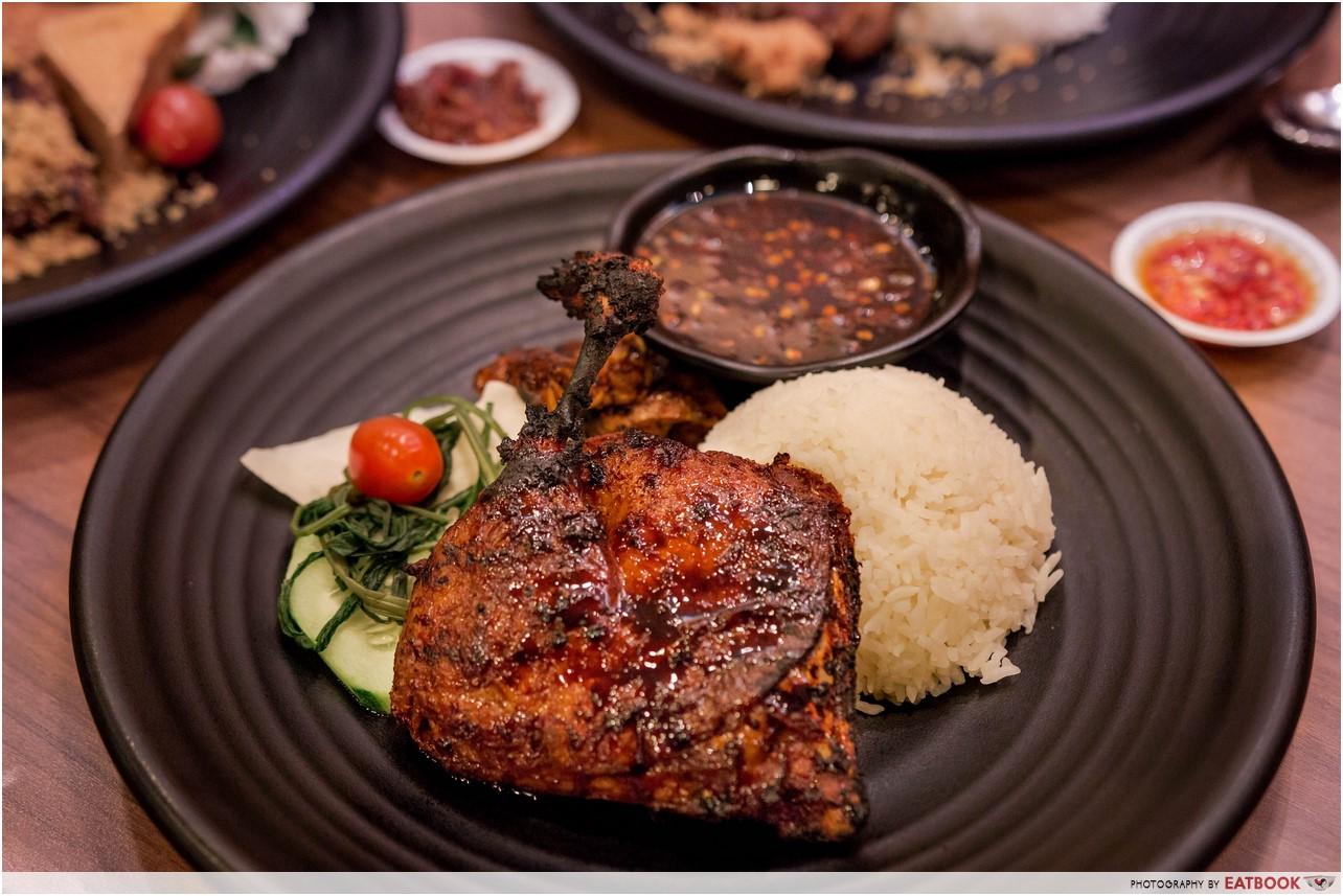 Bebek Goreng Pak Ndut - Grilled Duck Rice