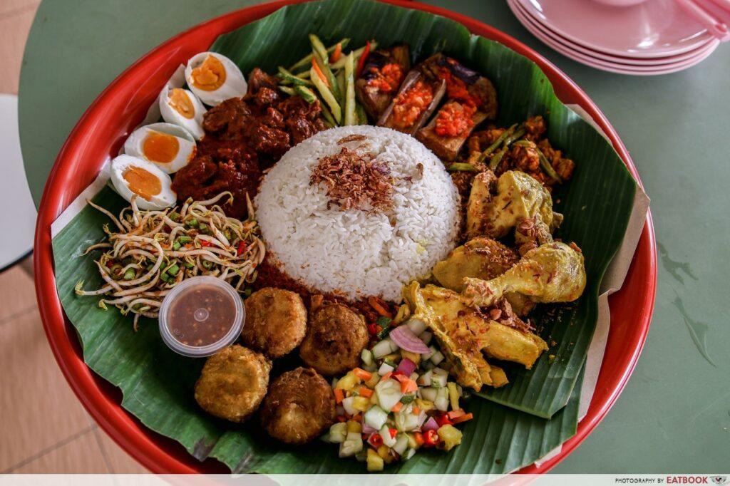 Bedok Hawker Stalls Enak-Nasi-Ambeng-