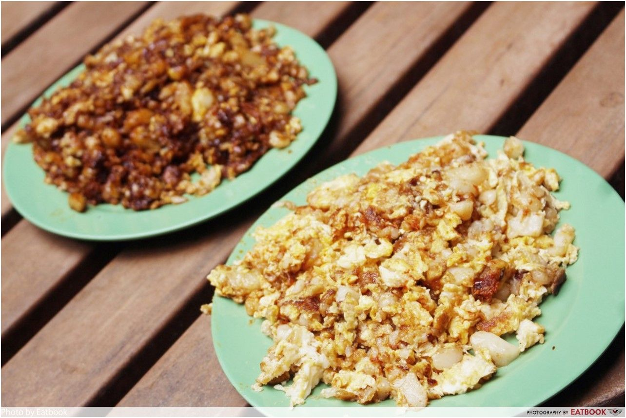 Clementi Hawker Food - fried carrot cake