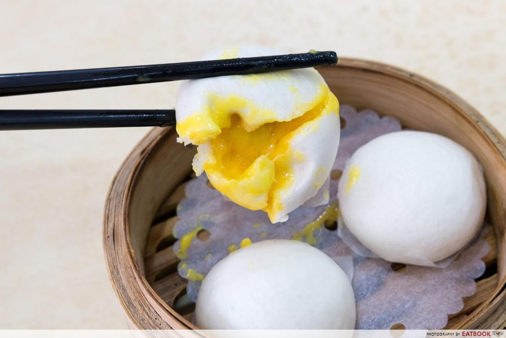 East Bistro - Steamed Egg Yolk Custard Bao