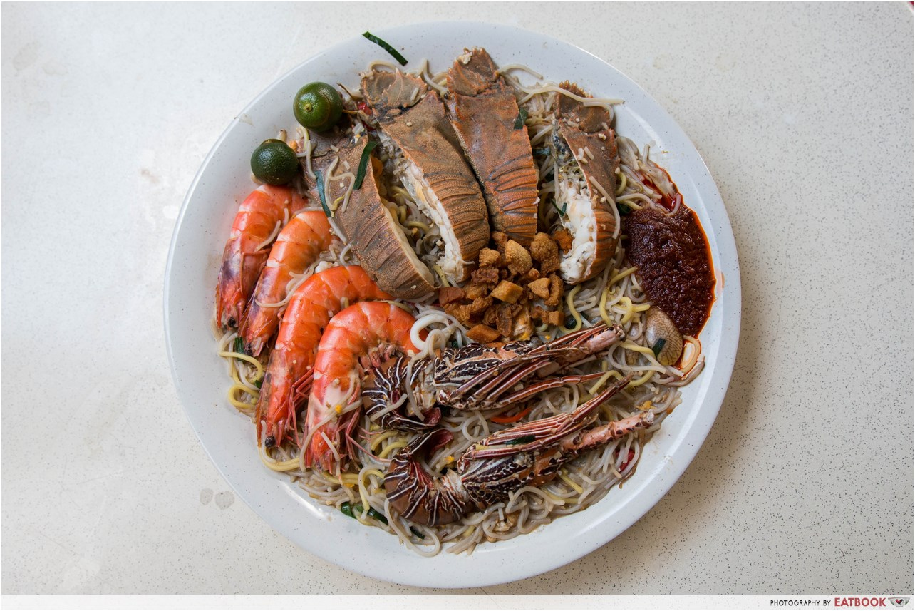 Giant seafood dishes - Mr Prawnie