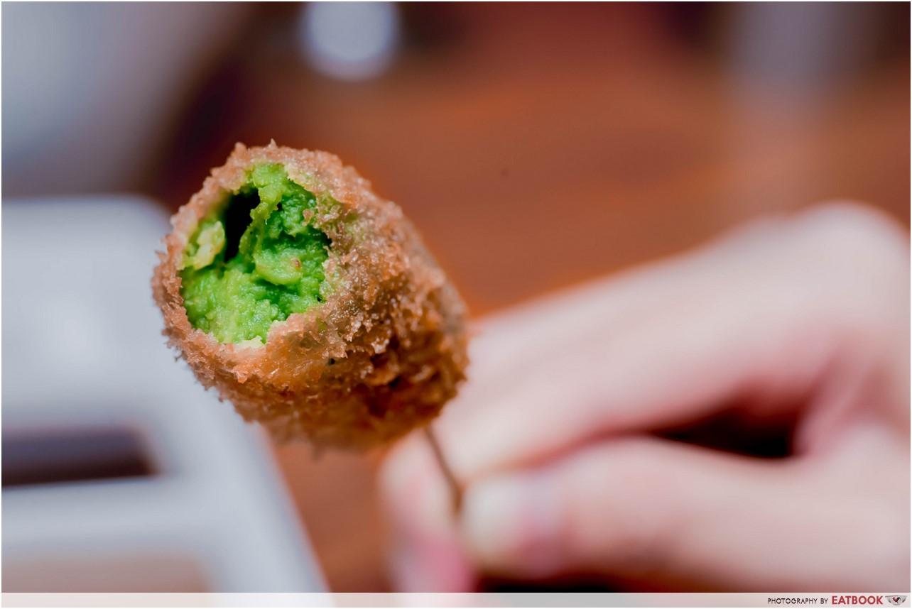 Ginza Rokukakutei - green peas
