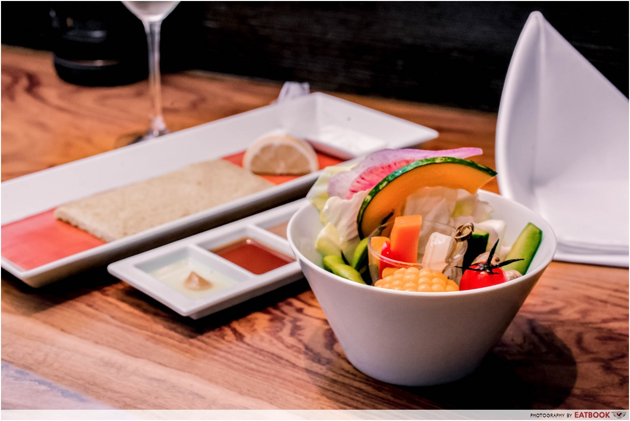 Ginza Rokukakutei - salad