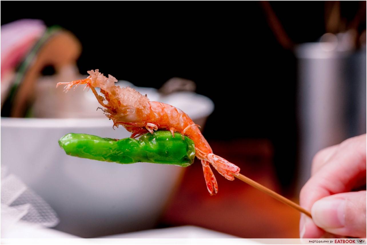 Ginza Rokukakutei - shrimp with pepper