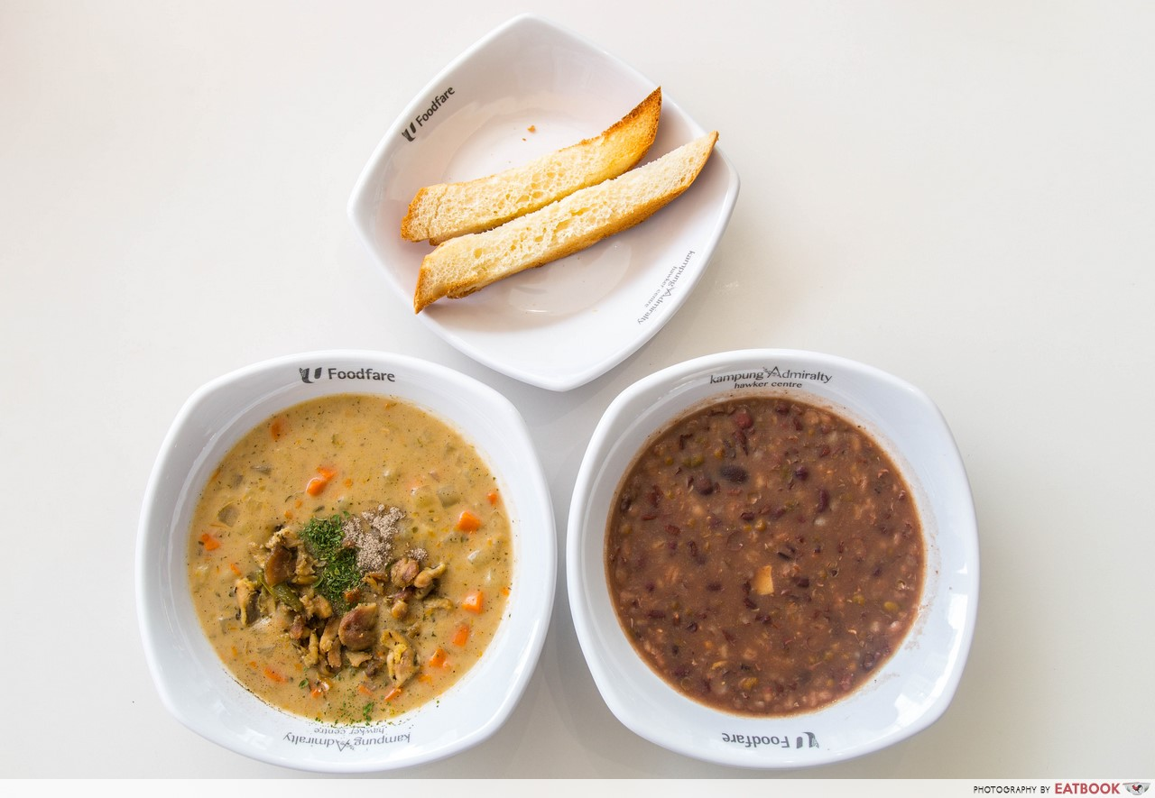 Kampung Admiralty Hawker Centre - soup flatlay