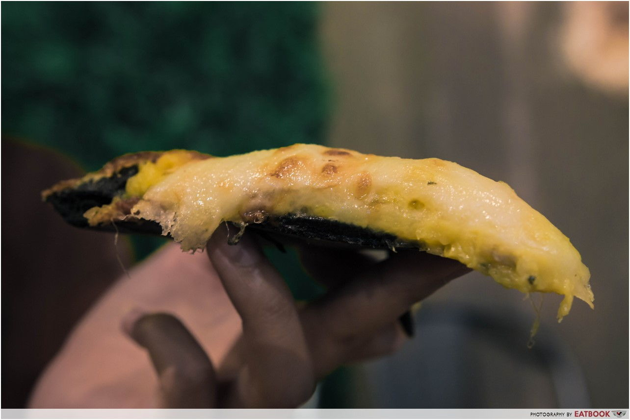 Mao Shan Wang Cafe - durian pizza layers
