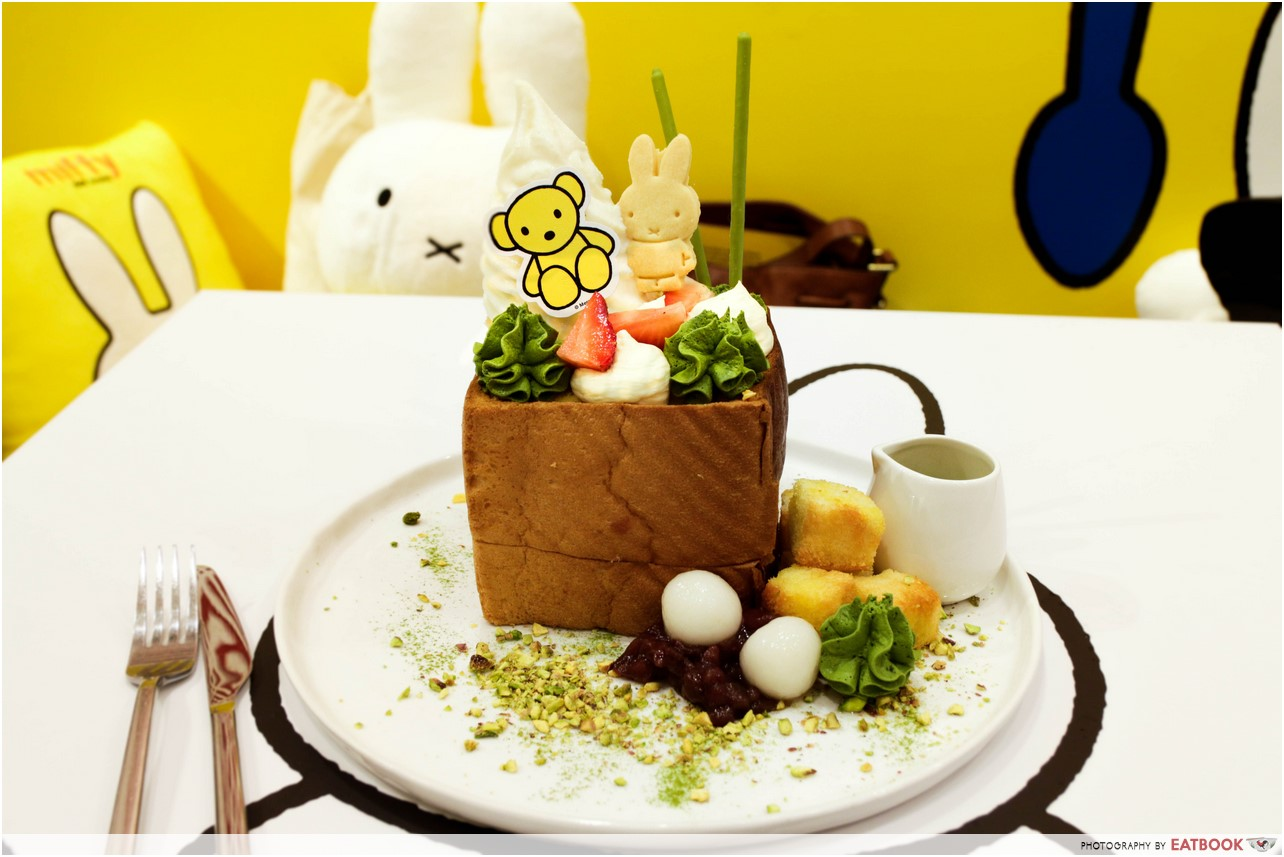 Miffy cafe - matcha shibuya toast