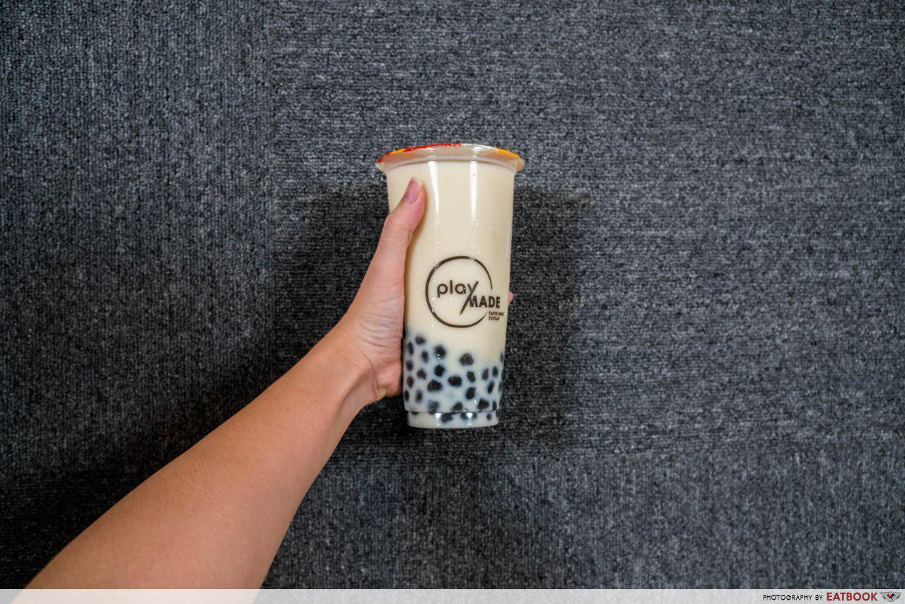 PlayMade - Green Tea Latte with Black Sesame Pearls