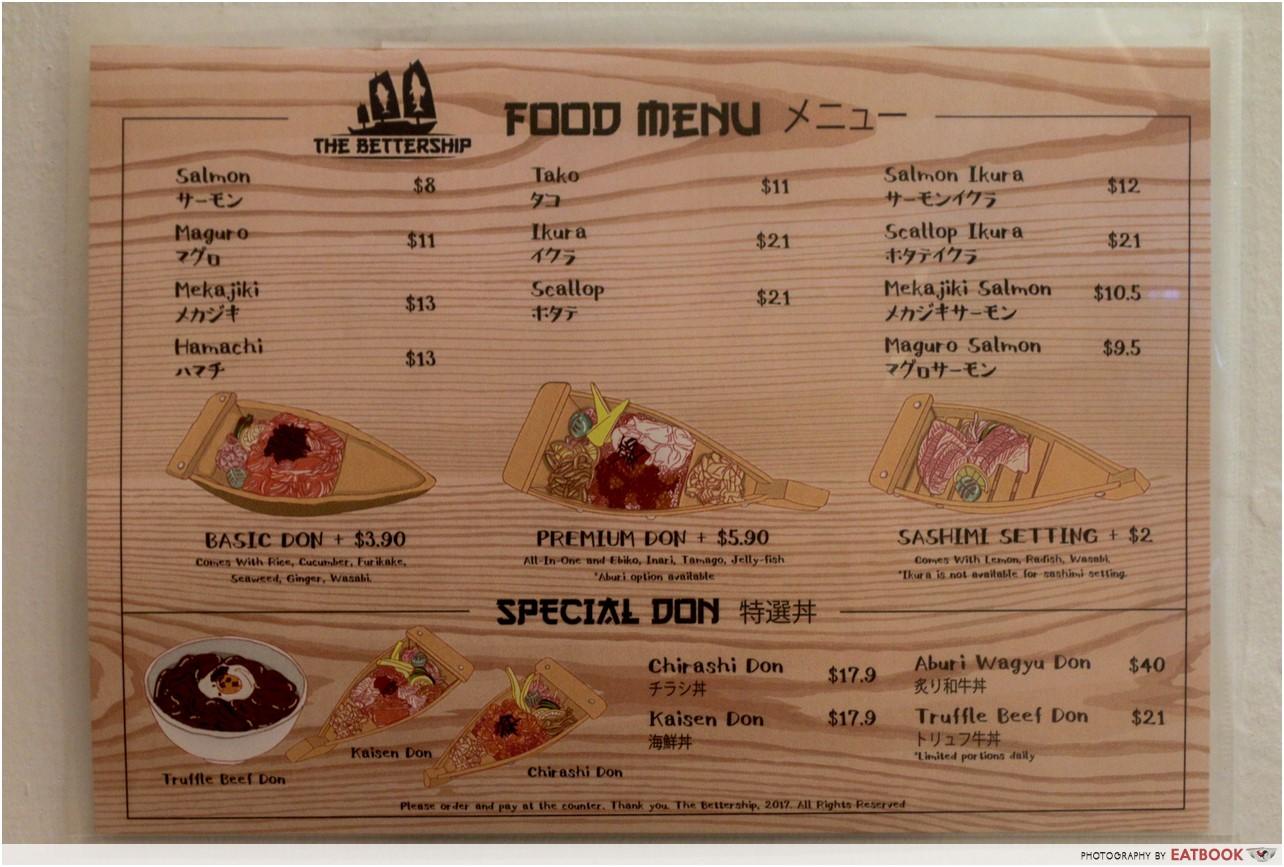 The bettership- menu