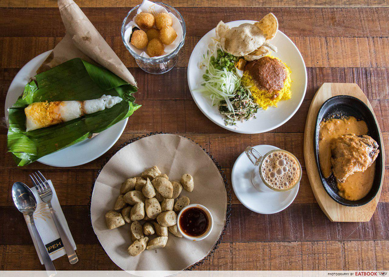 Upeh Cafe - Flatlay of food
