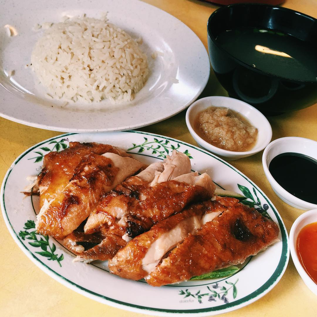 cheap smu food - sing ho hainan chicken rice