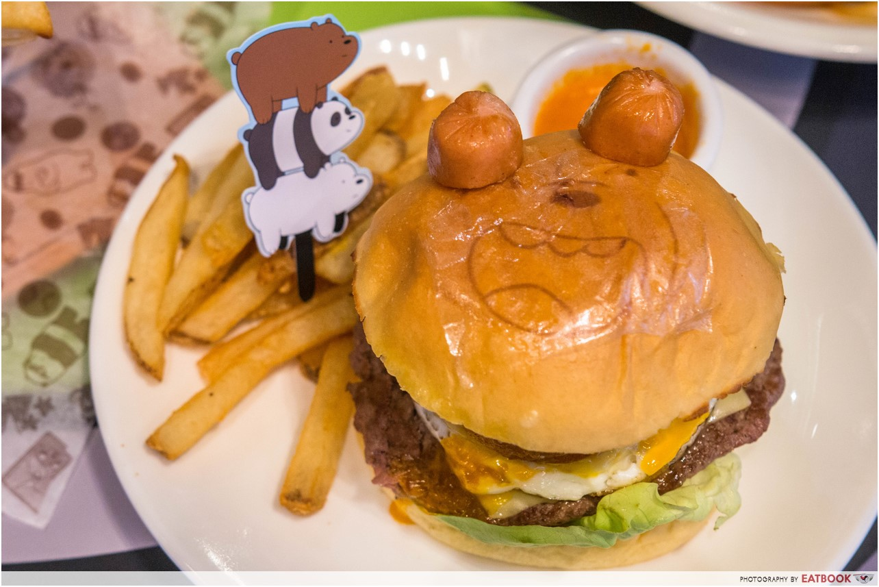 cartoon network cafe - burger