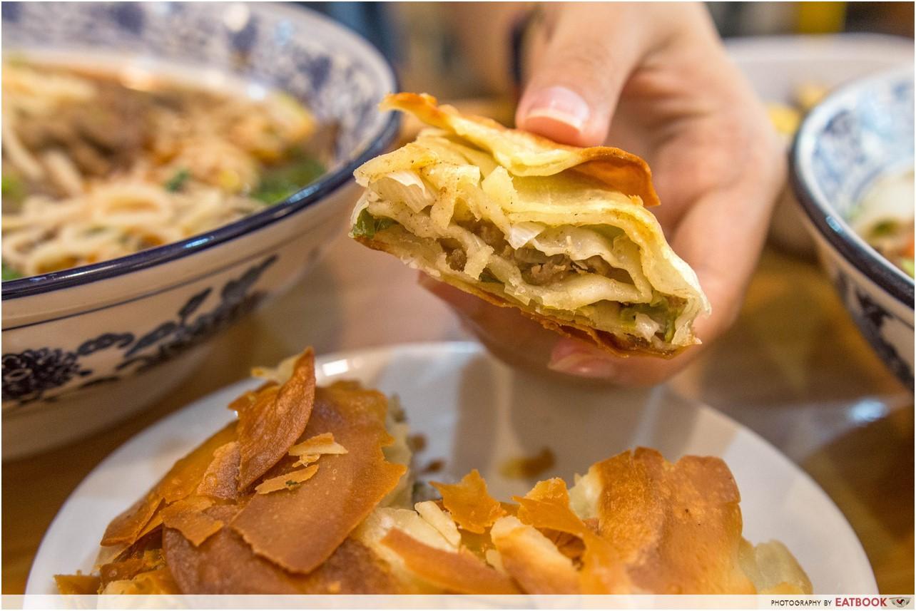 Nuodle- beef pancake insides